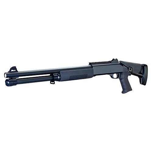 Rayline M56DL Softair Gewehr (Manuell Federdruck), Material: ABS (Stoßfest), Nachbau im Maßstab 1:1, Länge: 90cm, Gewicht: 1700g, Kaliber: 6mm, Farbe: Schwarz - (unter 0,5 Joule - ab 14 Jahre)
