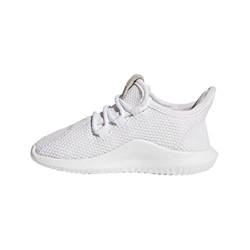 adidas Unisex-Kinder Tubular Shadow Fitnessschuhe, Footwear White/Core Black, 27 EU