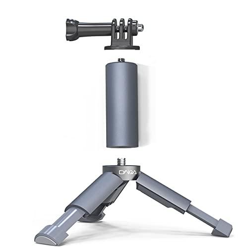 Mini trípode extensible para DJI osmo Action/Pocket 2 para G-opro Hero 9 negro/8/7/6/5 Mini trípode de mesa pequeño compacto portátil con pie de cámara de acción mini trípode de viaje