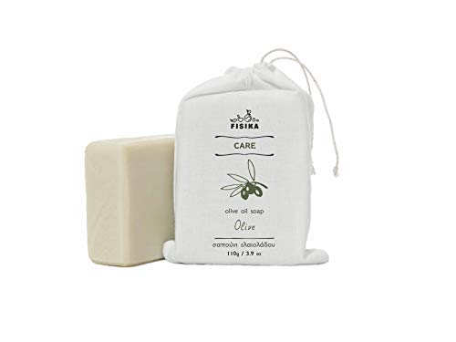 無添加 オリーブ石鹸 オーガニック [敏感肌 乾燥肌向け] 固形 手作り 110g (洗顔 全身用) オリーブオイルソープ [FISIKA(フィシカ) ケア]