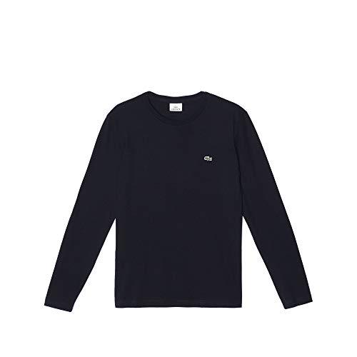 Lacoste - Crew Neck - T-shirt Homme, Noir - Noir, Large