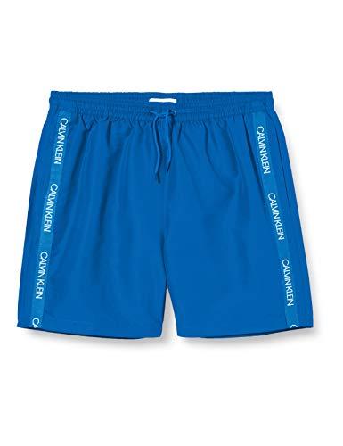 Calvin Klein Medium Drawstring Bañador, Azul (Snorkel Blue Cjr), Talla Única (Talla...