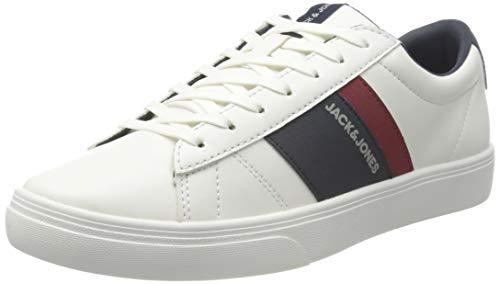 JACK & JONES Male Sneaker Kontrastfarbige Kunstleder 43Bright White
