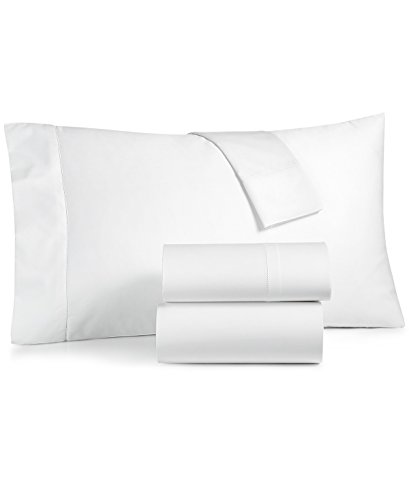 Charter Club Damask Solid 4 Pieces 550 Thread Count Supima Cotton Sheet Set King White
