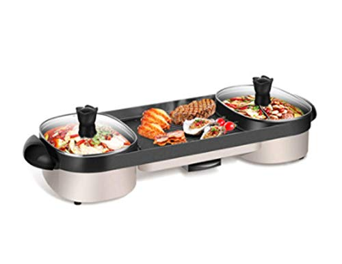 WSJ Barbecue Grill Electric Hot Pot Barbecue Multifunctional Ceramic Coated Smokeless Barbecue Portable Electric Barbecue Grill