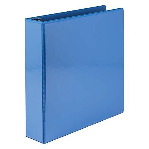 Samsill Economy 3 Ring Binder Organizer, 2 Inch Round Ring Binder, Customizable Clear View Cover, Light Blue Binder