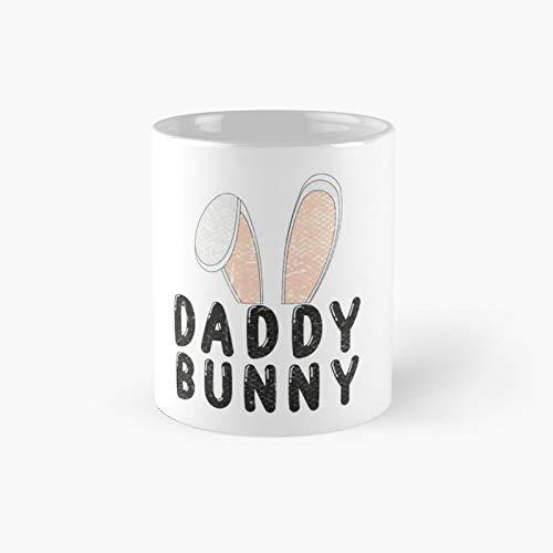 Mens Daddy Bunny Ears Easter Family Matching Dad Father Papa Men - Camiseta clásica para hombre, diseño con texto en inglés 'Best Gift Funny Coffee Mugs'