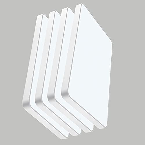 4PCS Panel LED Ultra Slim 60x40cm 48W, Blanco Frío 6500K 9600Lm Plafon LED Techo Rectangular, LED Lámpara de Techo Moderna para Salón, Dormitorio, Baño Panel de Luz Para Oficina