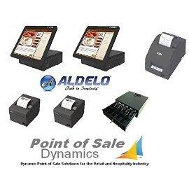 Aldelo Pro POS Complete Restaurant Point of Sale System 2 Station Bundle