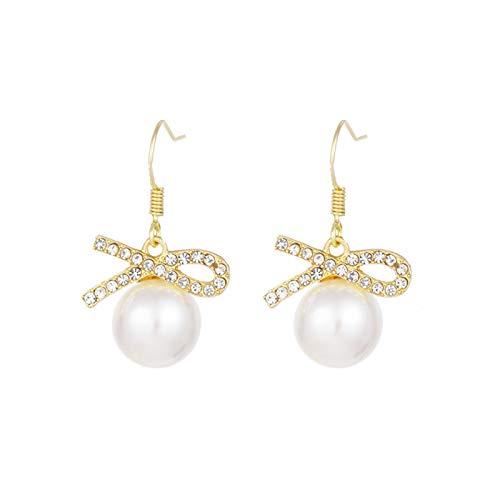 HUAJIA Pendientes De Moda para Mujer, Pendientes con Incrustaciones De Diamantes De Imitación, Pendientes Elegantes para Fiestas, Regalo para Mujeres Y Niñas