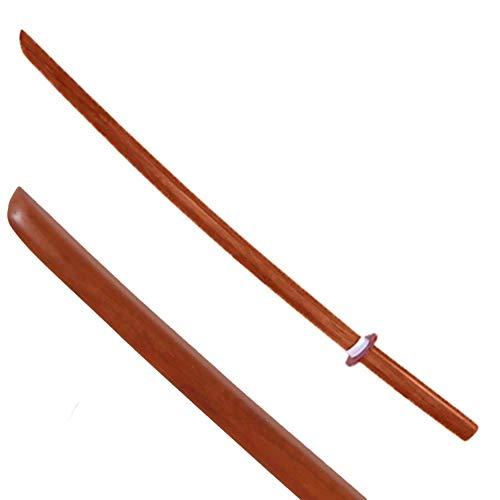 YORYU Bokken Espada de madera de cerezo con Tsuba y Dome para Artes Marciales