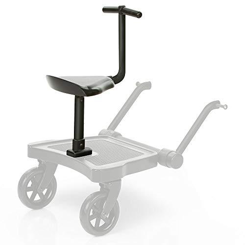 ABC Design Sitz für Buggyboard Trittbrett Kiddie Ride On 2 - Stuhl für Mitfahrbrett für Kinderwagen und Buggys - Schwarz