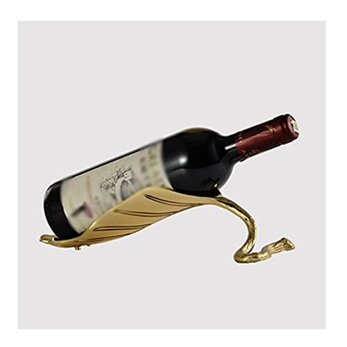 Botelleros Titular de la botella de vino, alces puro de cobre estante de vino de un solo vino escultura animal, rack de almacenamiento de vinos para el hogar y la oficina Estante para botellas de vino