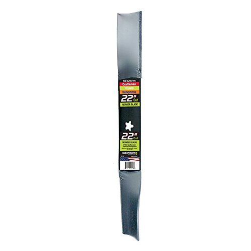 Maxpower 331740B Mower Blade for 22 Inch Cut Poulan/Husqvarna/Craftsman Replaces 420463, 421825, 437601, 22 -Inch, Black