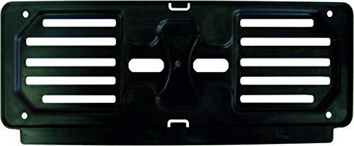 4R Quattroerre.it 16101 Universeller Kennzeichenhalter, Vorderseite, Schwarz