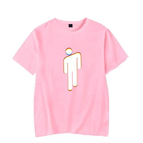VERROL Camiseta Billie Eilish Niña, Billie Eilish Camiseta Mujer Abecedario Impresión Manga Corta Cuello Redondo Fashion T-Shirt Adolescentes Chicas Basica de Verano Tops