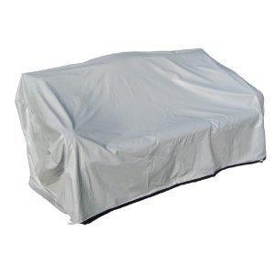 Protective Covers Housse de protection imperméable pour canapé 3 places en rotin Gris Taille XL