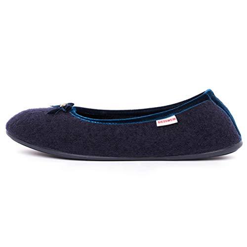 Giesswein Hohenau, Pantoffeln Damen, Blau, 42 EU