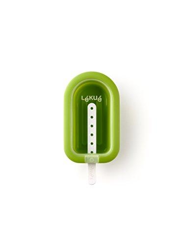 Lékué Eisform XL stapelbar in grün, Silikon, 16.5 x 7.5 x 2.6 cm