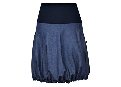 dunkle design Ballonrock Jeans Jeansrock Farben nach Wahl (XXL 46, Mittelblau)