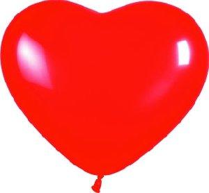 SEMPERTEX - Globos Corazón , Color Rojo, Talla 30 cm diámetro
