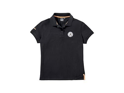 Mercedes-Benz, Poloshirt Damen schwarz/weiß (Small)