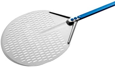 Professional 13-inch Perforated Circular Pizza Peel with 47-inch Handle