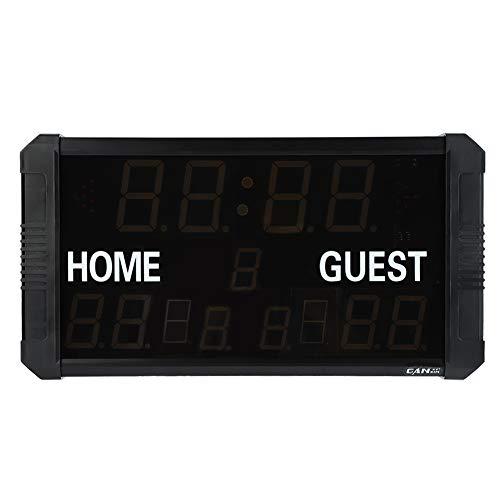 Marcador portátil para interiores/exteriores Marcador electrónico LED Marcador digital para baloncesto Bádminton de béisbol(EU Plug)