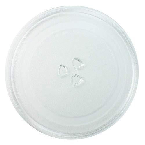 Invero - Piatto universale in vetro per forno a microonde, 3 agganci, 245mm Diameter