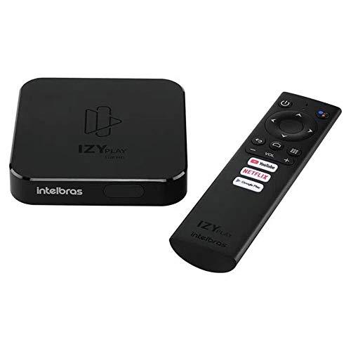 SMART BOX ANDROID TV IZY PLAY, intelbras, Preto