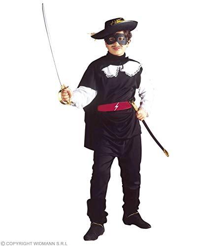 Widmann wdm38386–Kostüm für Kinder Bandito verblindeten (128cm/5–7Jahre), Schwarz, XXS