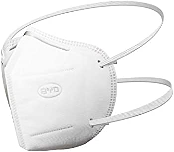 20-Piece Byd Care Disposable Protective Respirator with Head Straps
