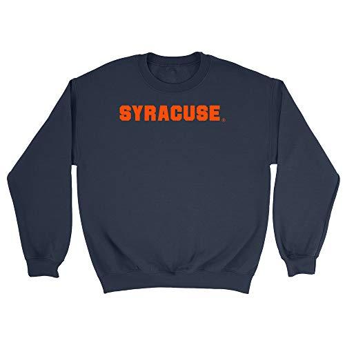 Official NCAA Syracuse University Men's/Women's Boyfriend Sweatshirt PPSYR03 - Navy, Larage