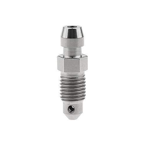 XinXinFeiEr Dauerhaft Titanlegierung Ti M8 M10 Bolzen P1.0 1,25 mm for Motorrad Bremssattel Ölablass Deflations Schrauben (Farbe: Titan, Länge: 1,25 mm) Stark