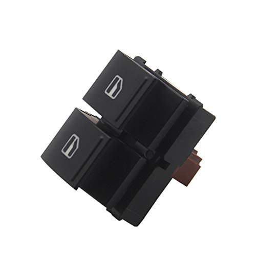 OLDJTK Botón de Control del Interruptor de Control de la Ventana de Potencia Maestra eléctrica Side for Skoda Yeti Fabia MK2 Octavia 2 Roomster 1Z0 959 858 (Color : Black)