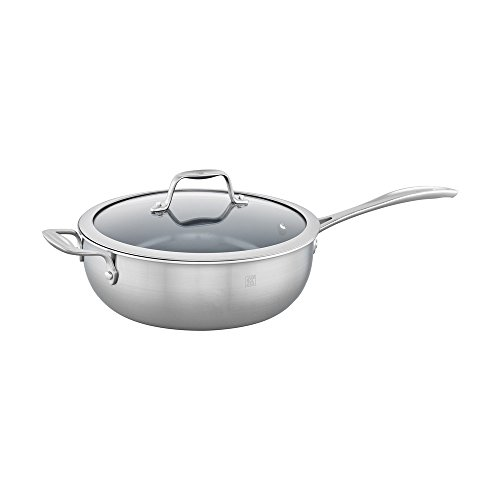 ZWILLING Spirit Ceramic Nonstick Perfect Pan, 4.6-qt, Stainless Steel