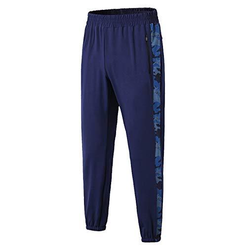 Elonglin Homme Pantalon de Sport Léger Séchage Rapide Fitness Respirant Legging Sport Homme Collant Running Fitness Pantalon Bleu S