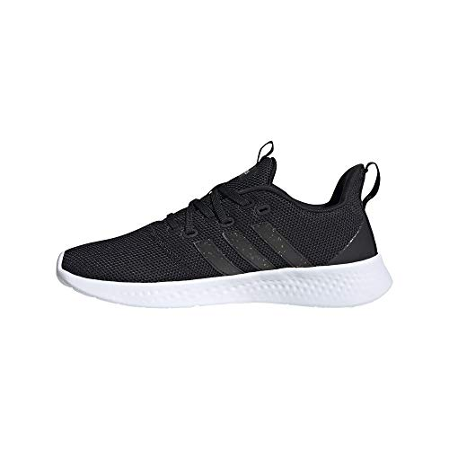 adidas Women's Puremotion Running Shoe, Black/Black Stripes/White, 7