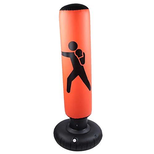 Nimoa Boxsack-PVC 160cm Fitness Boxsack für Erwachsene und Kinder Aufblasbarer Roly-Poly Boxsack(Orange)