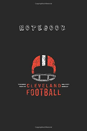Notebook: Cleveland Ohio Football Vintage Dawg Helmet Retro Notebook 6'' x 9''...