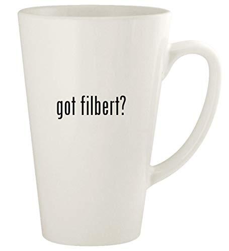 got filbert? - 17oz Ceramic Latte Coffee Mug Cup, White