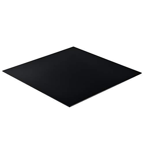 [neu.haus] Glasplatte 80x80cm Eckig Schwarz Glasscheibe Tischplatte ESG Glas Kaminplatte Kaminglas DIY Tisch