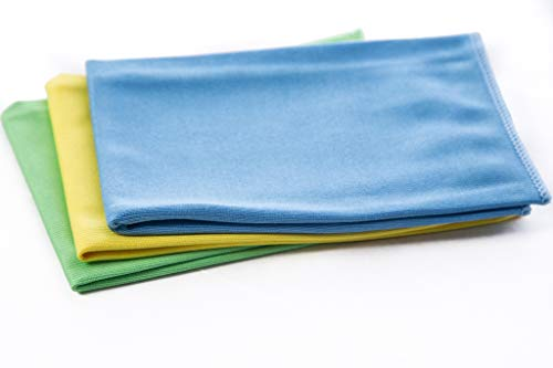 REZI microvezelproducten GmbH glazen doeken, blauw, groen, geel, 40 x 40 cm