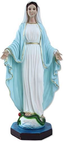 Proposte Religiose Statua della Madonna Immacolata o Miracolosa in Resina. Altezza cm 40. Dipinta a Mano.