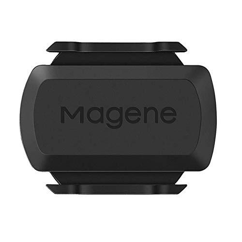 Keyzone Geschwindigkeits-Trittfrequenz Sensor für Fahrrad Dual Modul Geschwindigkeitssensor mit ANT+ Multi-Protokoll Dual-Use-Sensor für GPS-Codetabelle und Fahr-APP,C61 Trittfrequenzsensor