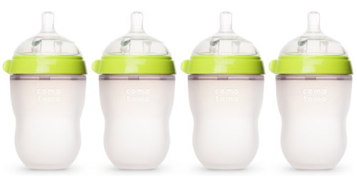 Best Buy! Comotomo Natural Feel Baby Bottle, 4 Pack (Green, 8 oz)
