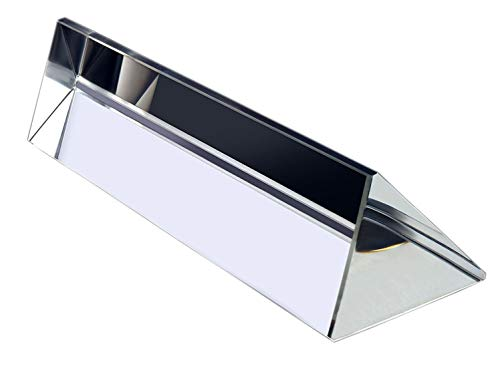 Samyo 3.9 Inch / 100mm Optical Glass Triangular Prism Triple Prism for Physics Teaching Light Spectrum Optics Kits