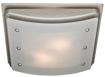 Hunter 90064 Ellipse Bathroom Ventilation Exhaust Fan with Light and Swirled Marble Glass (Bathroom Vent Fan, Exhaust Fan)