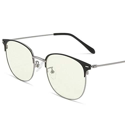Business Flat Light Anti-Blau-Licht Brille Smart Farbwechselbrille Männer und Frauen Trend Myopie Brille Rahmen schwarz