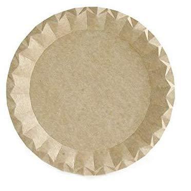50 Platos kraft Biodegradables, eco-freindly, diámetro 18 cm, perfectos para tu celebración
